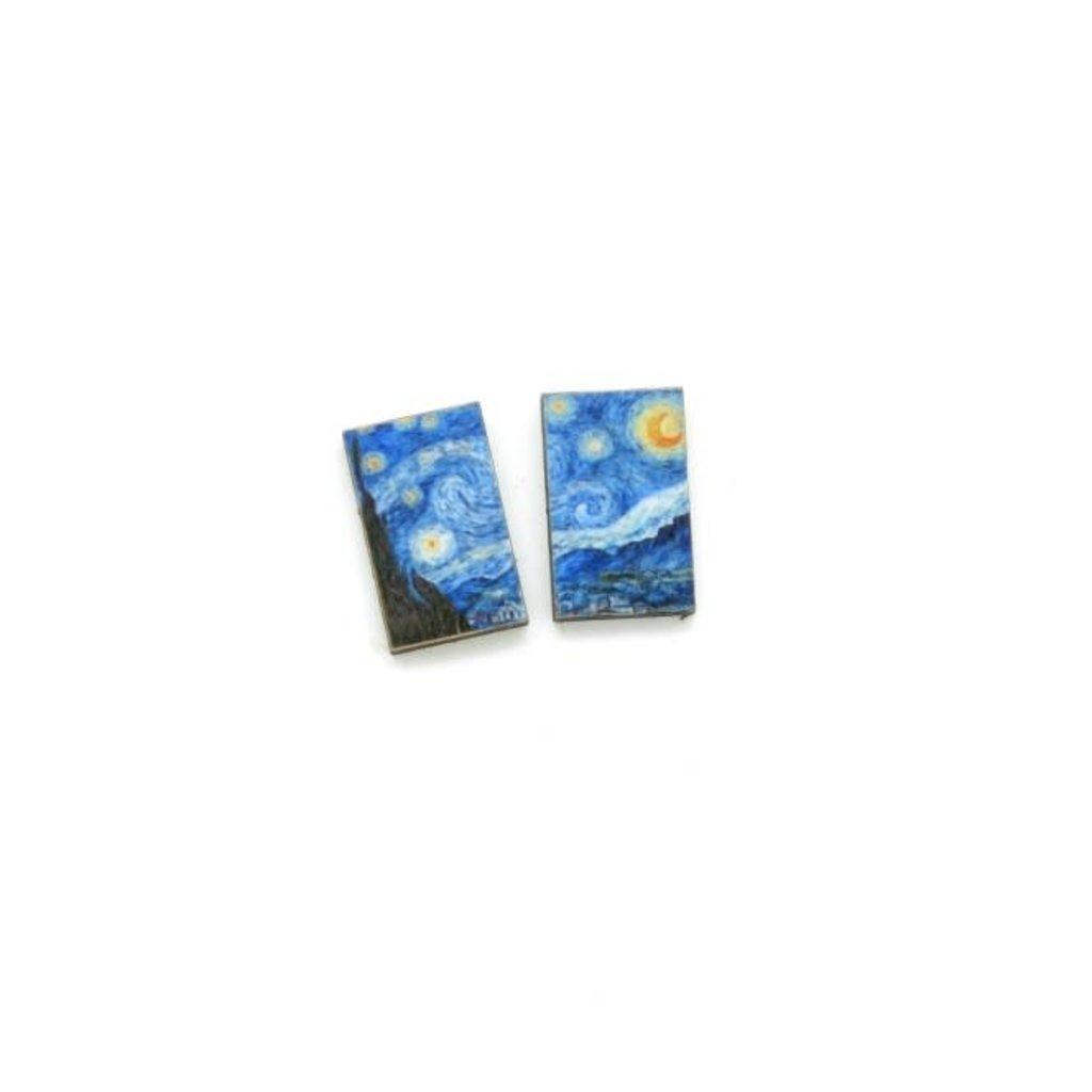 Dunitz & Co Starry Night Art Stud Earrings