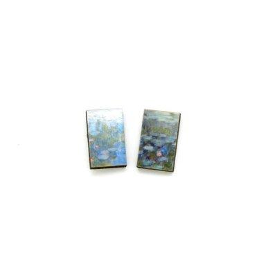 Dunitz & Co Water Lily Art Stud Earrings