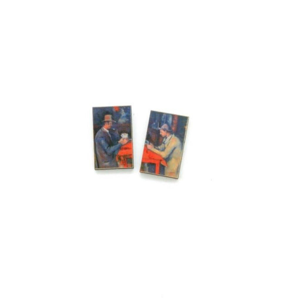 Dunitz & Co Card Player Art Stud Earrings