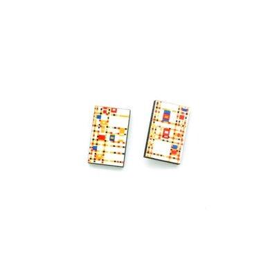 Dunitz & Co Boogie Woogie Art Stud Earrings