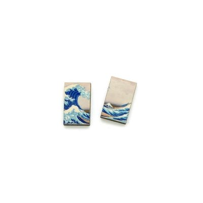 Dunitz & Co Wave Art Stud Earrings