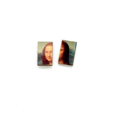 Dunitz & Co Mona Lisa  Art Stud Earrings