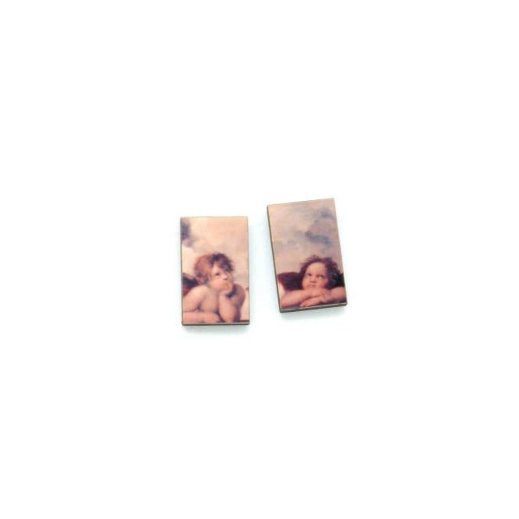 Dunitz & Co Two Angel Art Stud Earrings