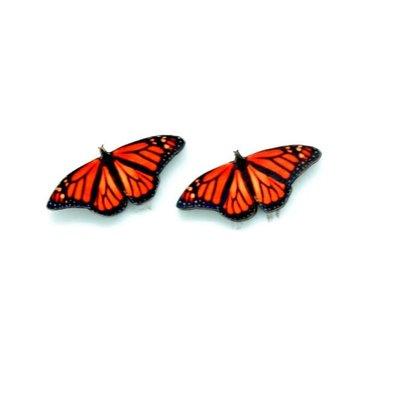 Dunitz & Co Monarch Butterfly Stud Earrings