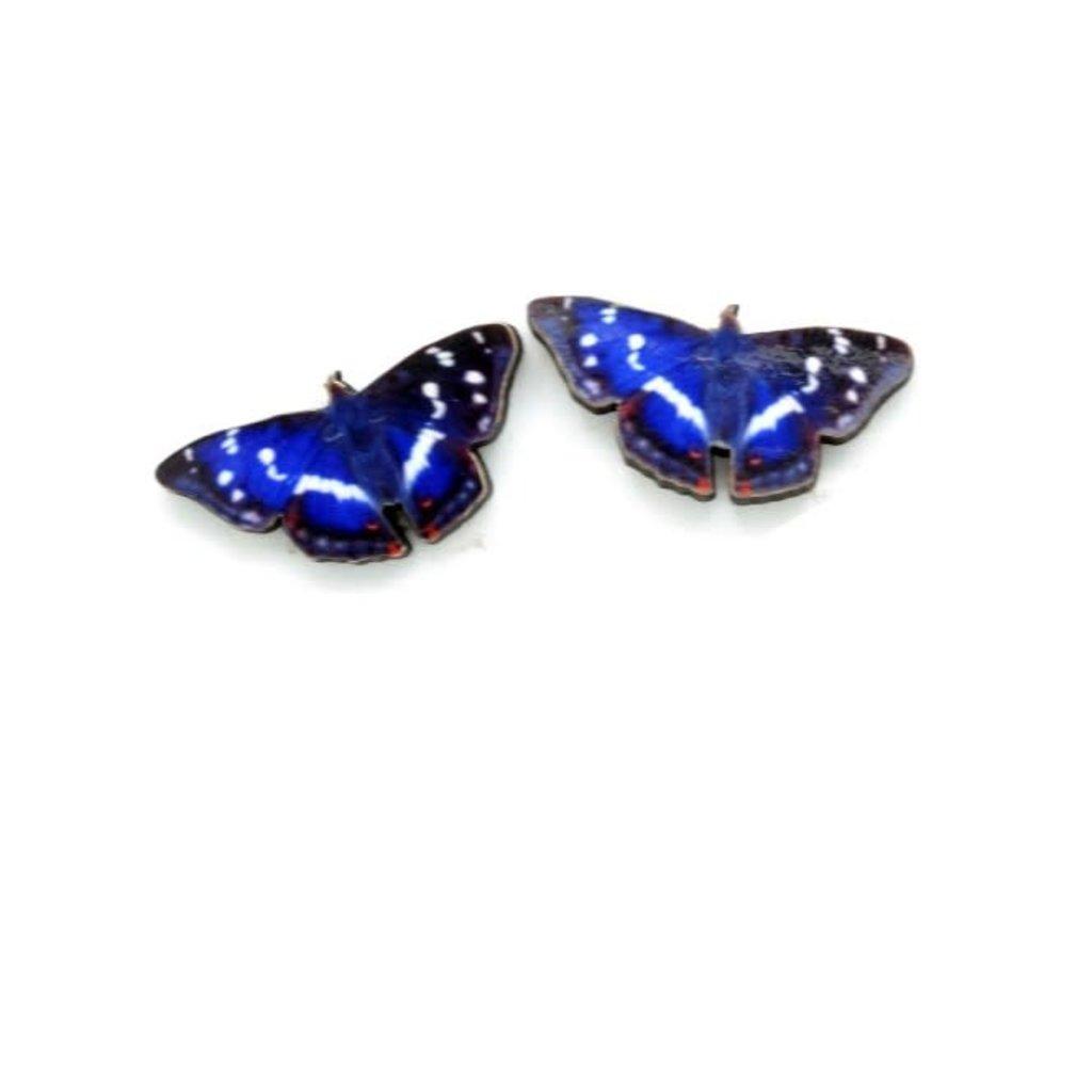 Dunitz & Co Purple Emperor Butterfly Stud Earrings