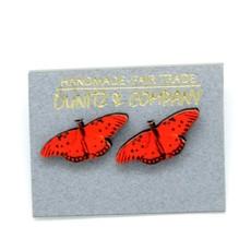 Dunitz & Co Gulf Fritillary Butterfly Stud Earrings