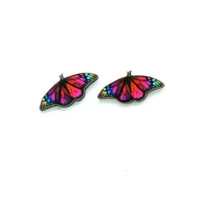 Dunitz & Co Rainbow Butterfly Stud Earrings