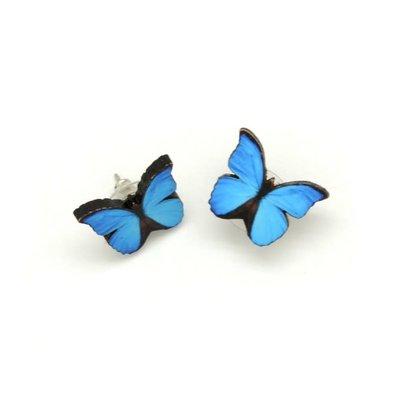 Dunitz & Co Blue Morpha Butterfly Stud Earrings