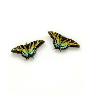 Dunitz & Co Tiger Swallowtail  Butterfly Stud Earrings