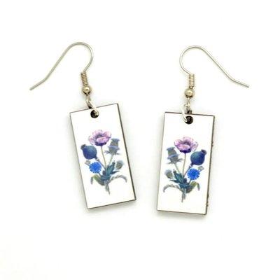 Dunitz & Co Blue Bouquet Botanical Dangle Earrings