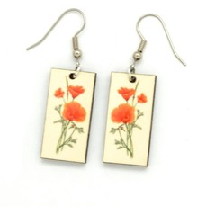 Dunitz & Co Poppy Botanical Dangle Earrings
