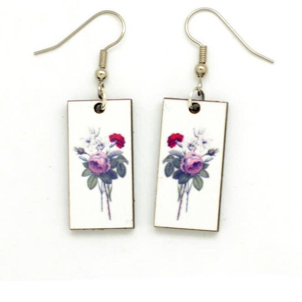 Dunitz & Co Carnation Botanical Dangle Earrings