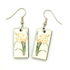 Dunitz & Co Daffodil Botanical Dangle Earrings