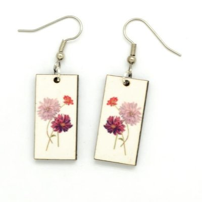 Dunitz & Co Dahlia Botanical Dangle Earrings