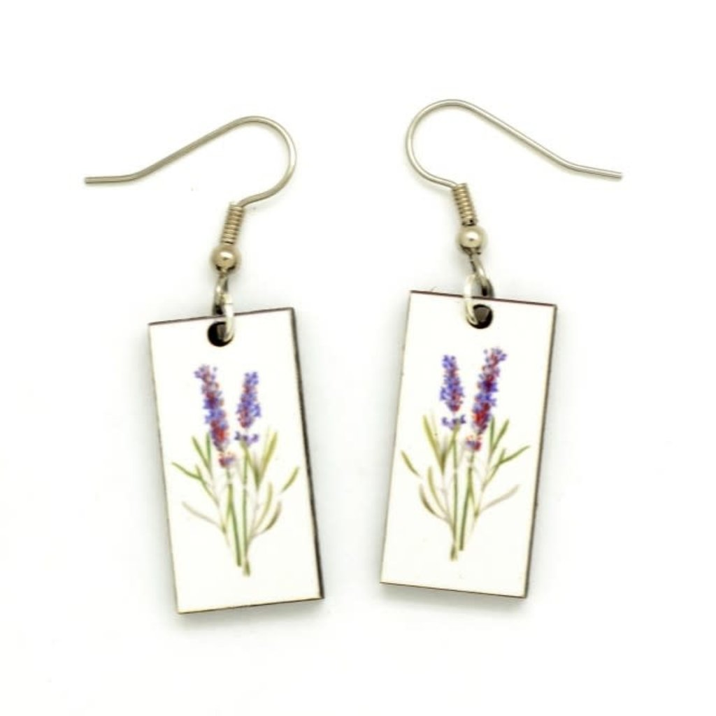 Dunitz & Co Lavender Botanical Dangle Earrings