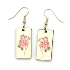 Dunitz & Co Peony Botanical Dangle Earrings