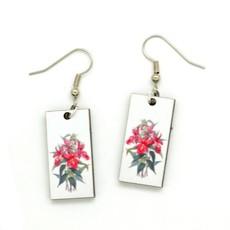 Dunitz & Co Purple Orchid Botanical Dangle Earrings