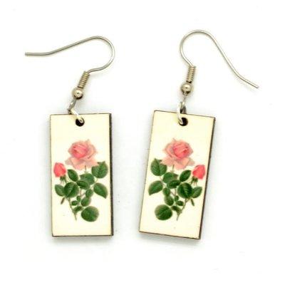 Dunitz & Co Rose Bud Botanical Dangle Earrings