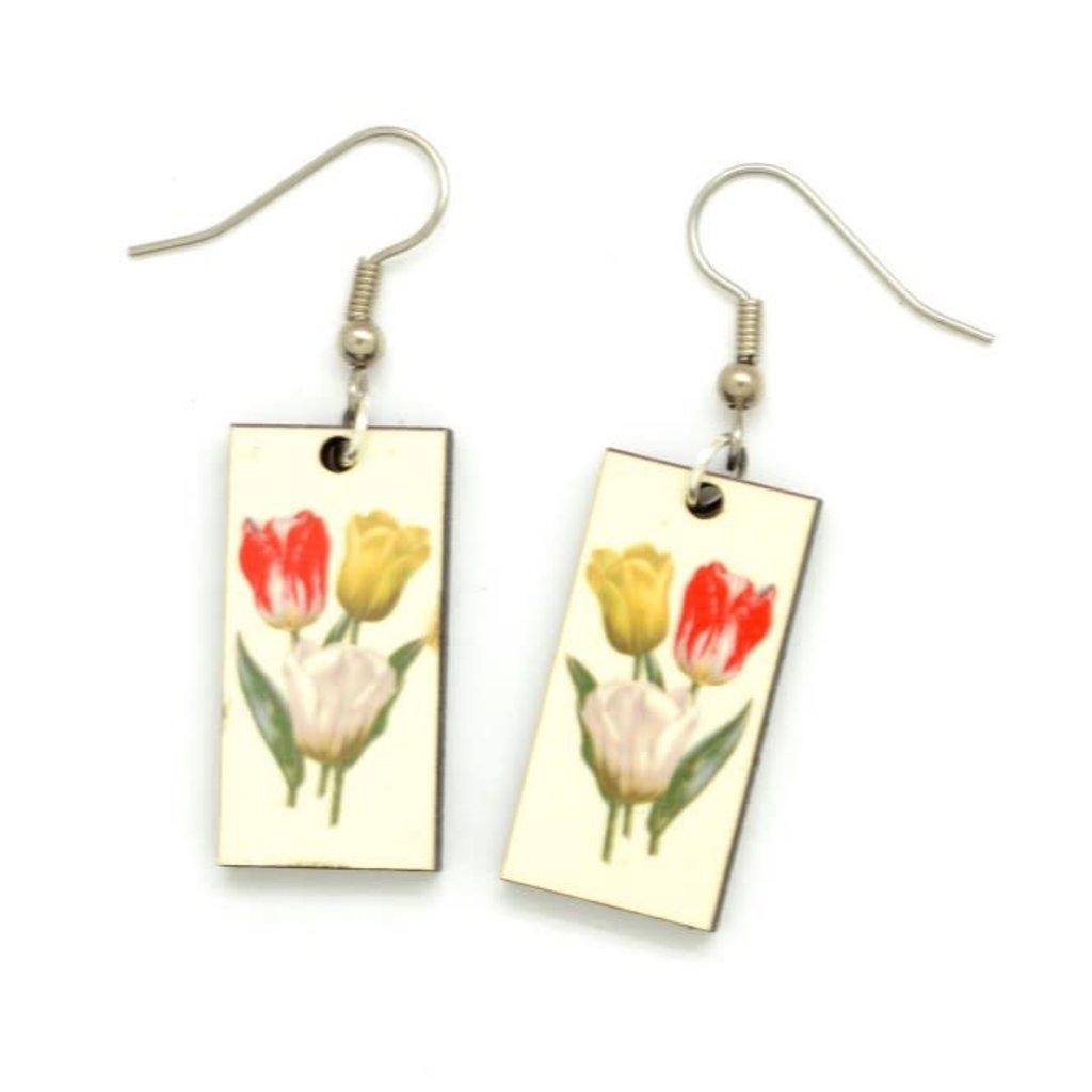Dunitz & Co Tulip Botanical Dangle Earrings