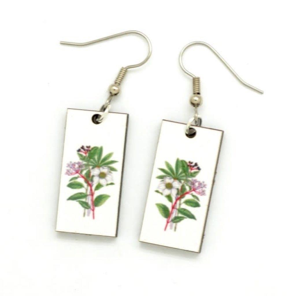 Dunitz & Co White Bouquet Botanical Dangle Earrings
