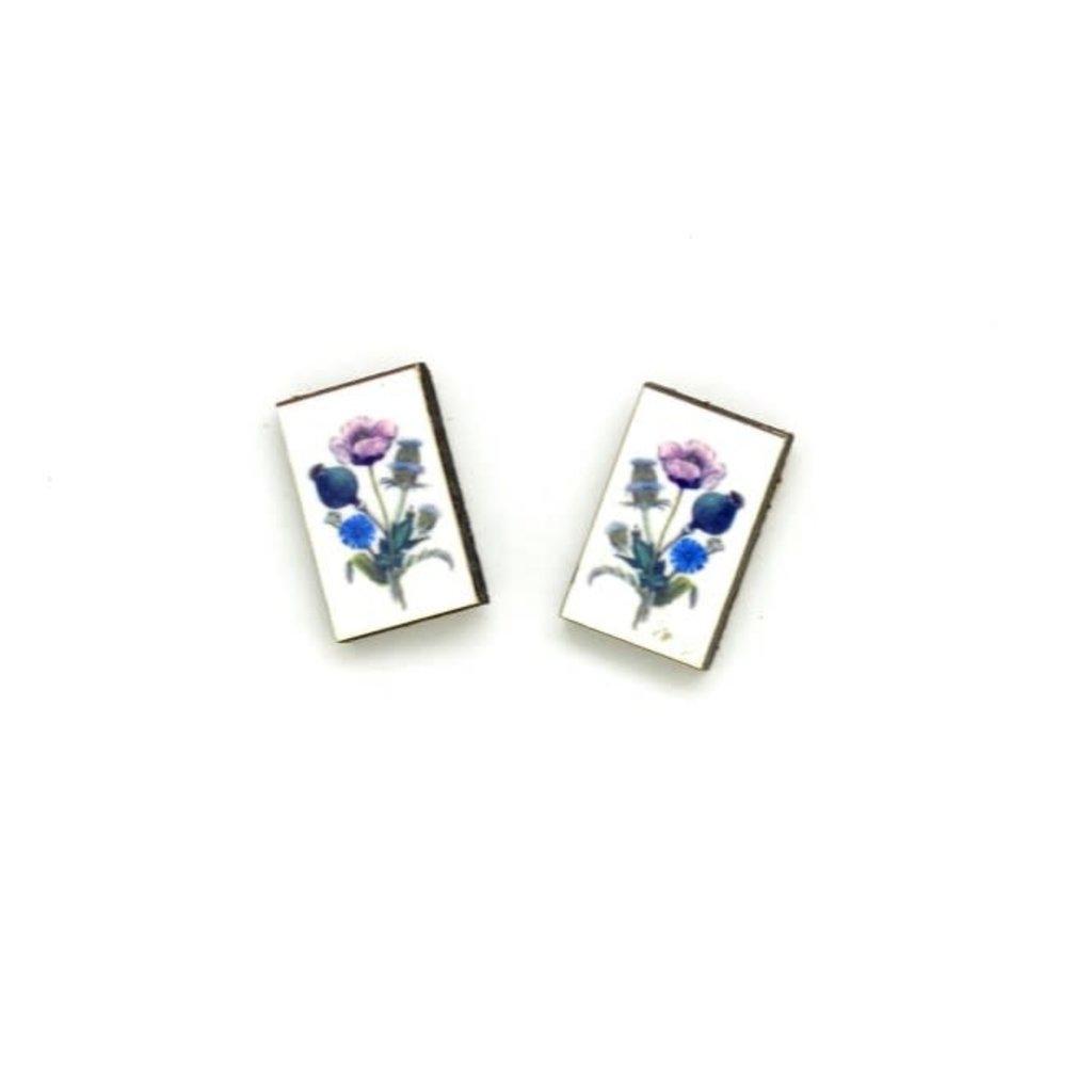 Dunitz & Co Blue Bouquet Botanical Stud Earrings