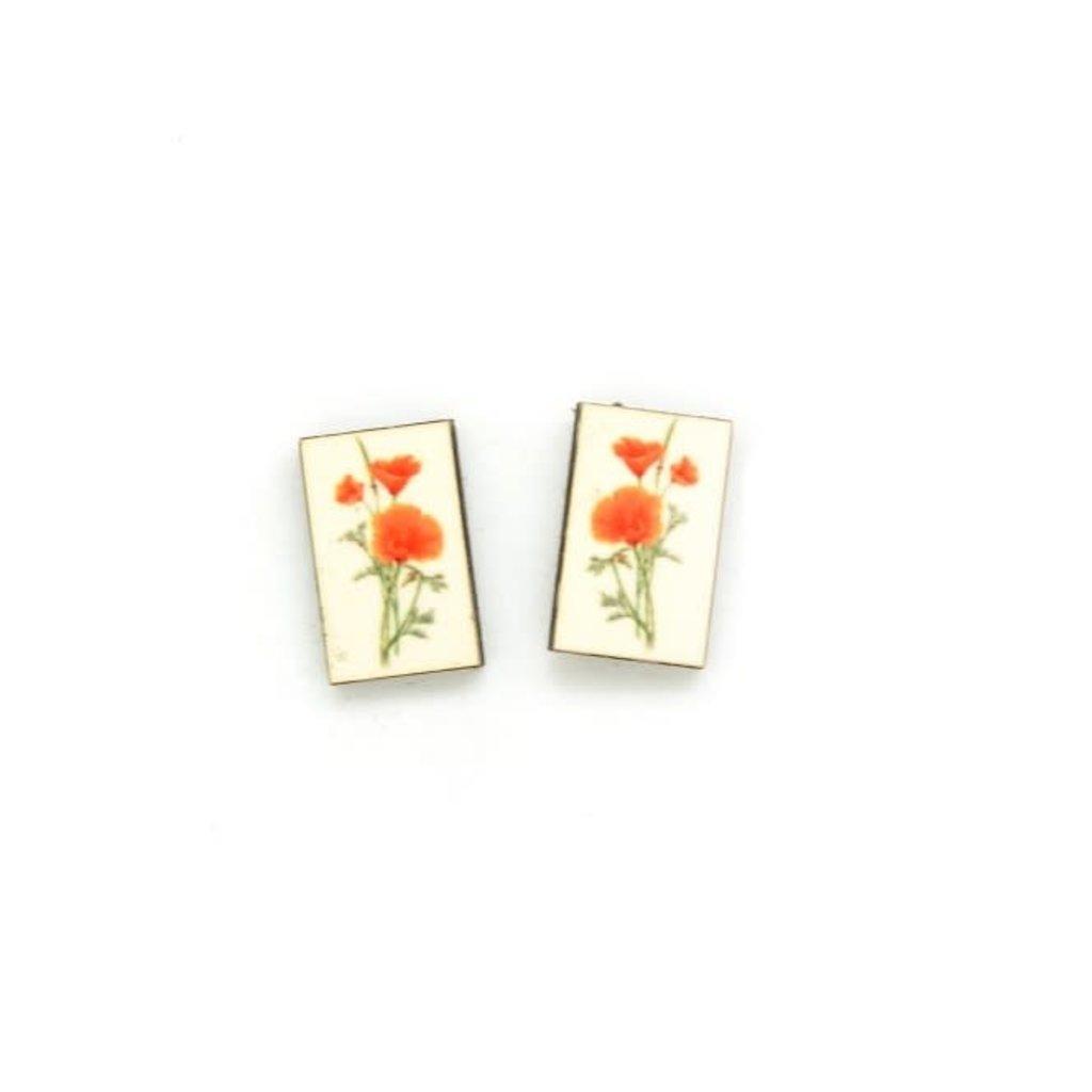 Dunitz & Co Poppy Botanical Stud Earrings