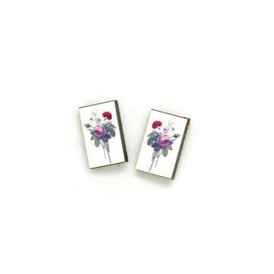 Dunitz & Co Carnation Botanical Stud Earrings