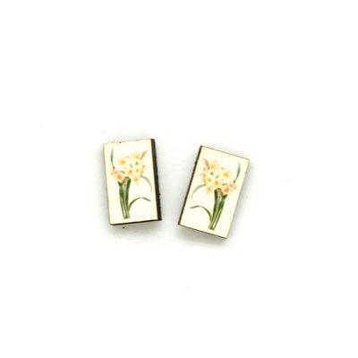 Dunitz & Co Daffodil Botanical Stud Earrings