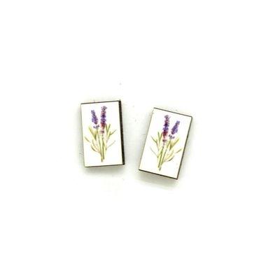 Dunitz & Co Lavender Botanical Stud Earrings