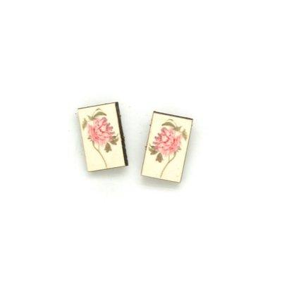 Dunitz & Co Peony Botanical Stud Earrings