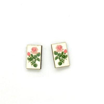 Dunitz & Co Rose Bud Botanical Stud Earrings