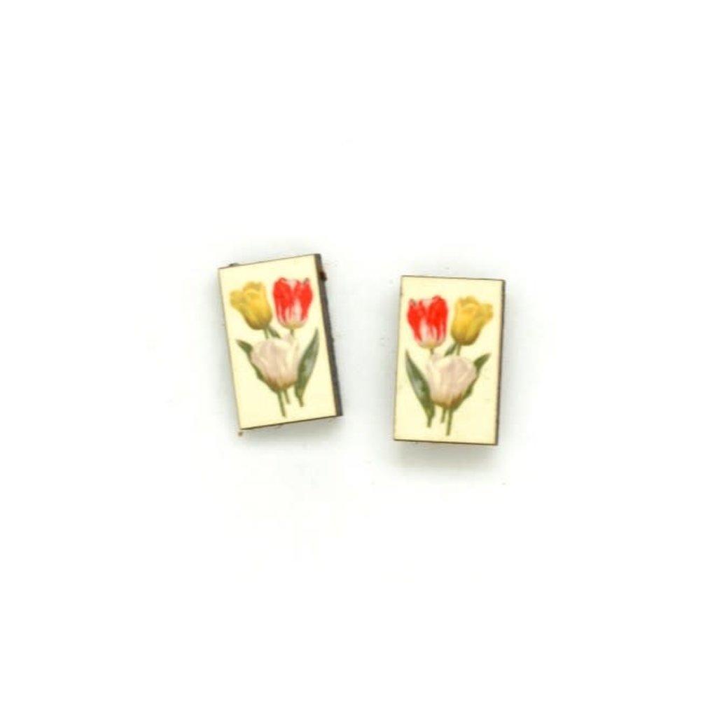 Dunitz & Co Tulip Botanical Stud Earrings