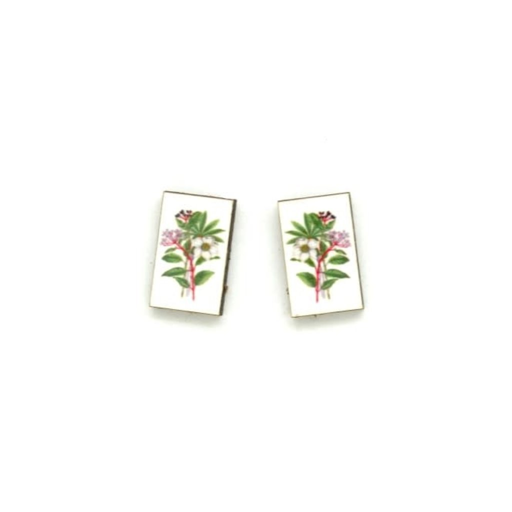 Dunitz & Co White Bouquet Botanical Stud Earrings