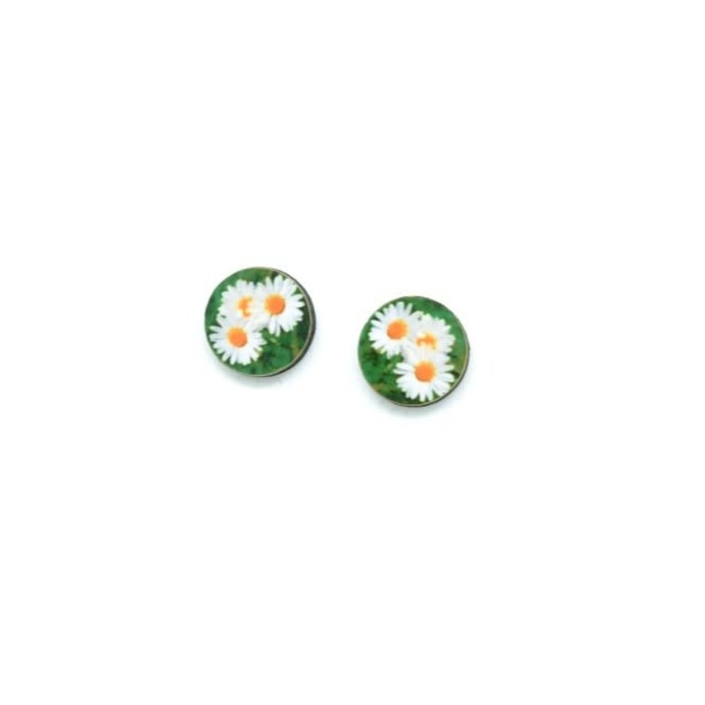 Dunitz & Co Daisy Flower Dot Stud Earrings