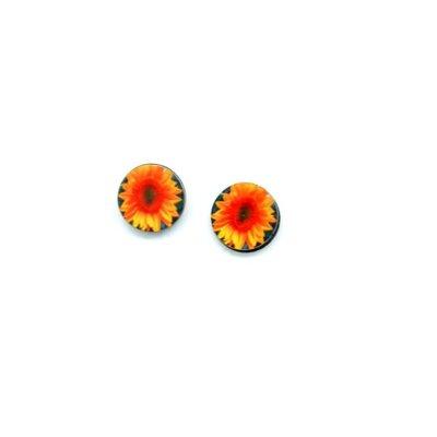 Dunitz & Co Sunflower Flower Dot Stud Earrings