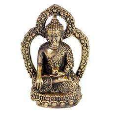 DZI Handmade Mini Brass Buddha Statue