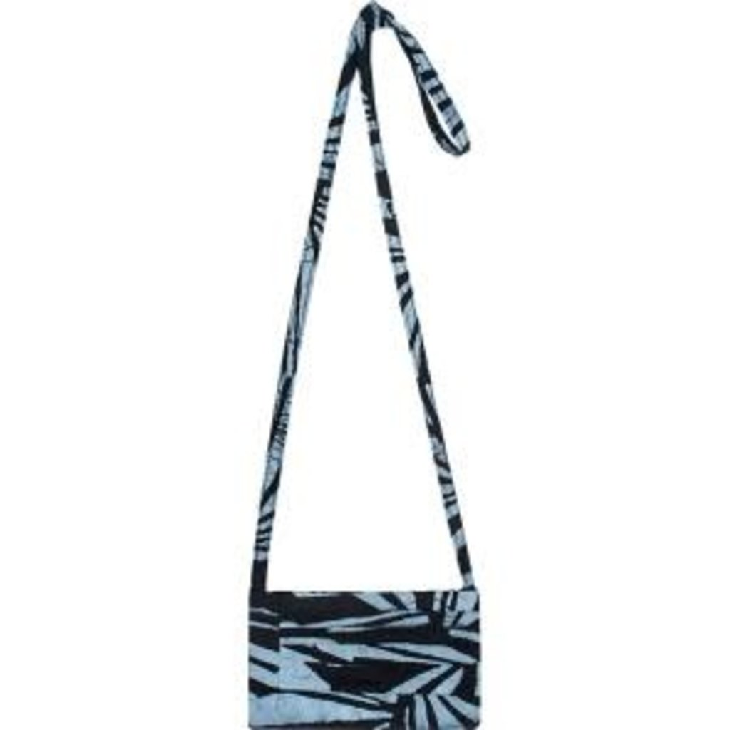 Global Mamas Black Rays Batik Clutch Purse