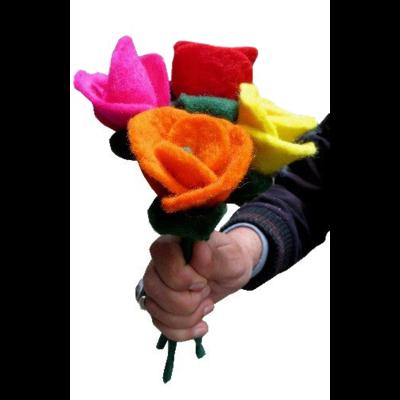 Ganesh Himal Felted Wool  Rose Centerpiece Flower