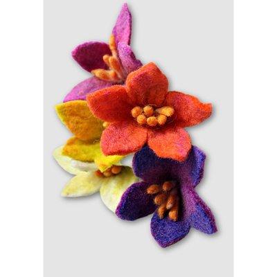 Ganesh Himal Felted Wool Small Centerpiece Flower