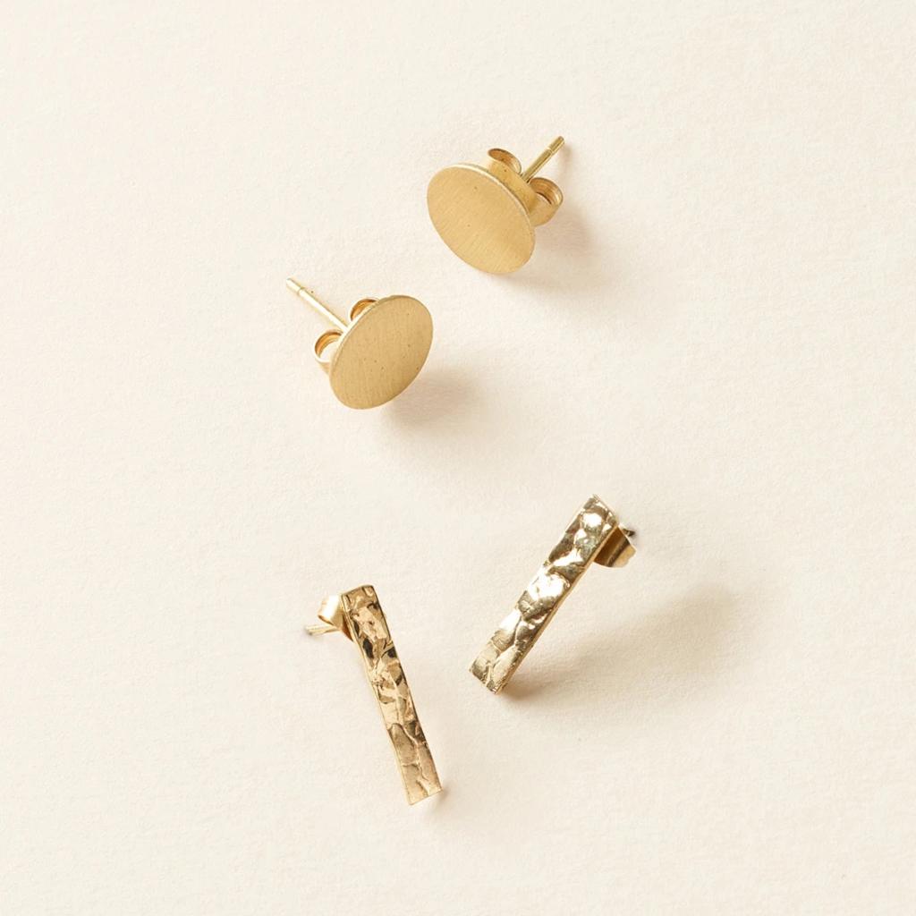 Matr Boomie Diya Dot & Bar Stud Earring Set