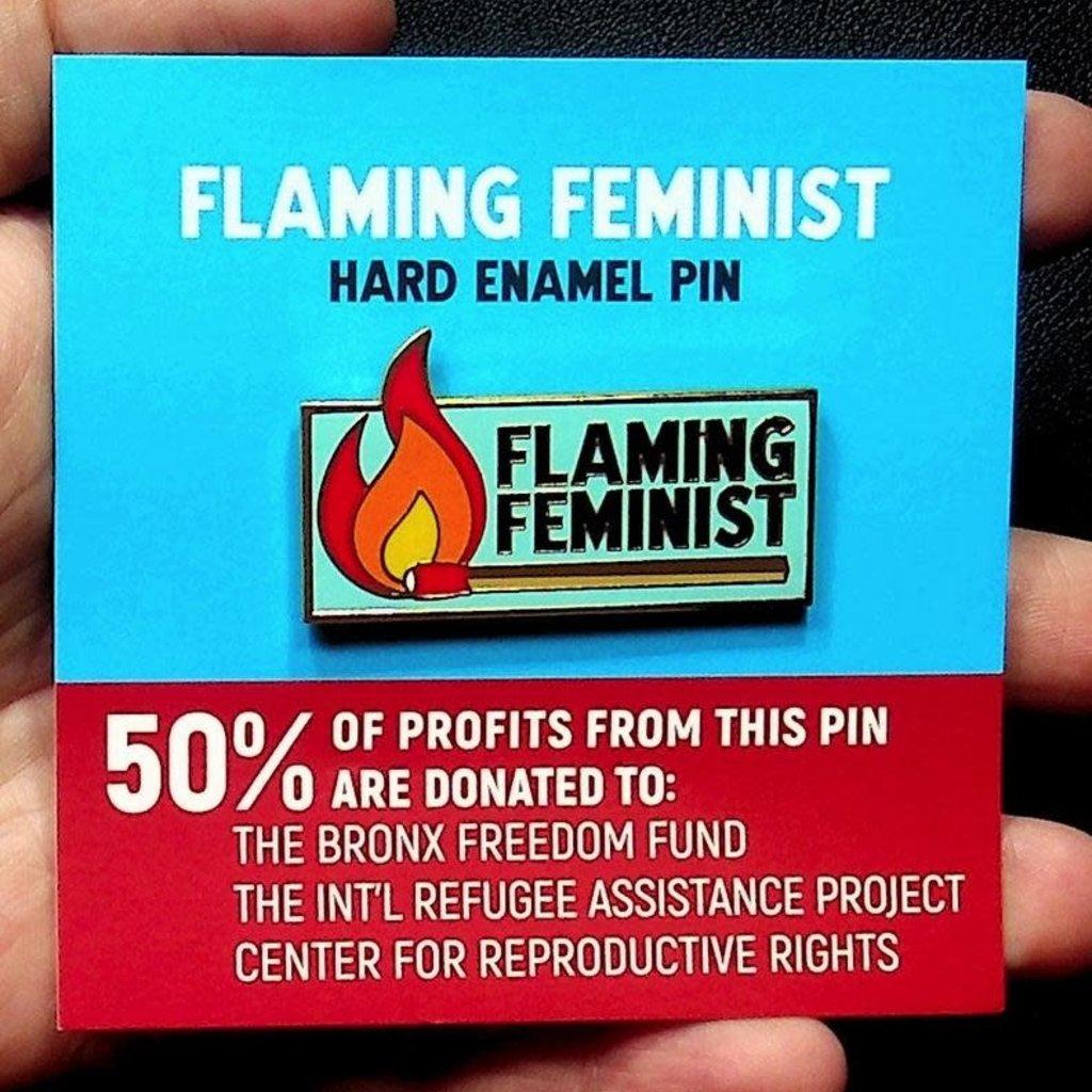 Microcosm Flaming Feminist Hard Enamel Pin