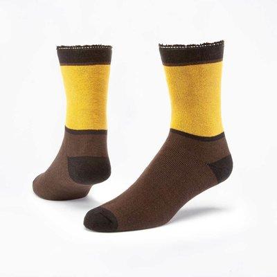 Maggie's Organics Honey/Roast Colorblock Cotton Snuggle Socks