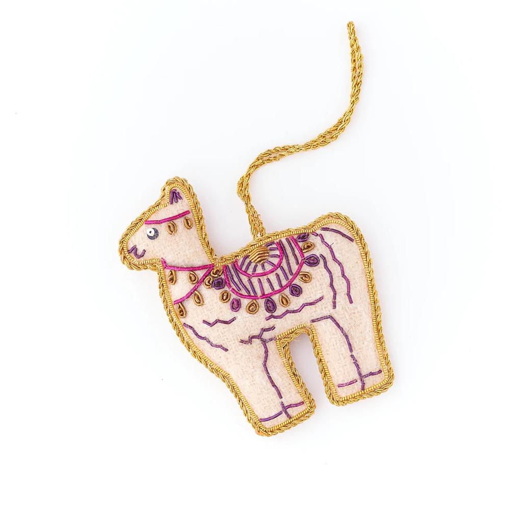 Matr Boomie Larissa Plush Ornament: Llama