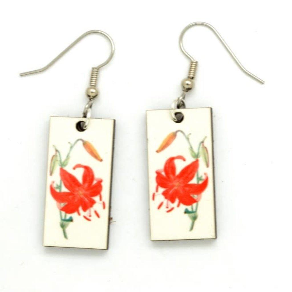 Dunitz & Co Orange Lily Botanical Dangle Earrings