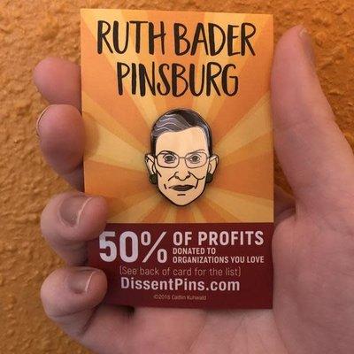 Microcosm Ruth Bader Ginsburg Hard Enamel Pin
