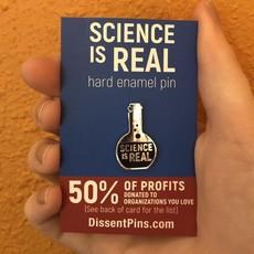 Microcosm Science is Real Hard Enamel Pin