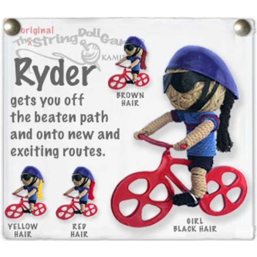 Kamibashi Bike Ryder Long Hair String Doll Keychain