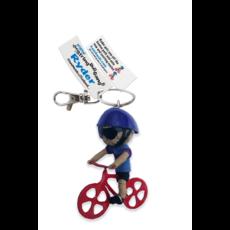 Kamibashi Bike Ryder Short Hair String Doll Keychain
