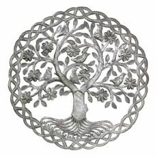 Global Crafts Dancing Tree Metal Drum Art
