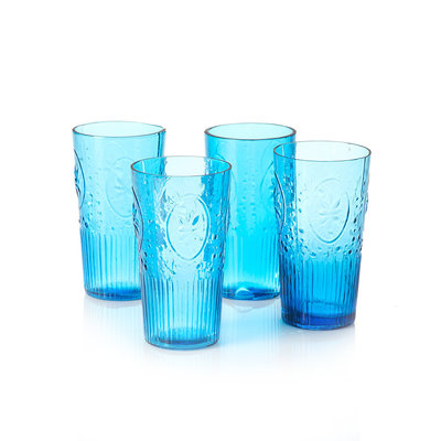 Serrv Coastal Blue Tropical Punch Glass